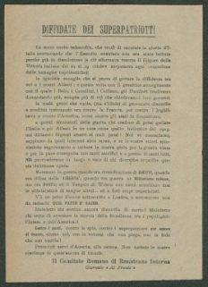 Diffidate dei superpatriotti  / Comitato Romano di Resistenza Interna
