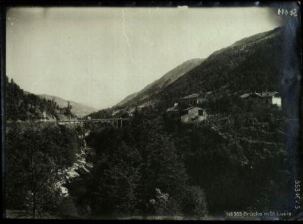 Brücke in St. Luzia. Fotografia dell'esercito Austro-Ungarico