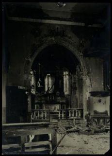 Pfarrkirche in Auzza. Fotografia dell'esercito Austro-Ungarico
