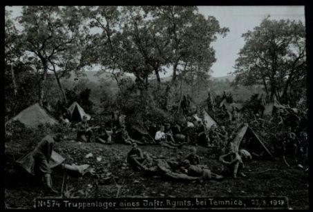 Truppenlager eines Inftr. Rgmts. bei Temnica. Fotografia dell'esercito Austro-Ungarico