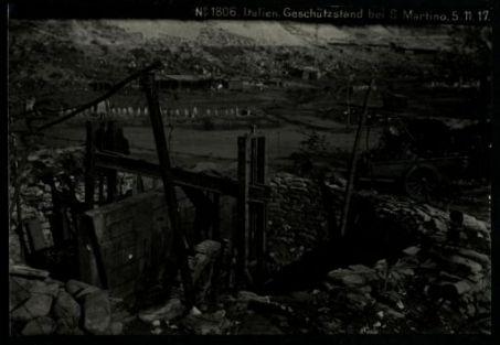 Italien. geschützstand bei S. Martino. Fotografia dell'esercito Austro-Ungarico