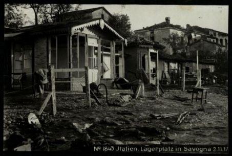 Italien. lagerplatz in Savogna. Fotografia dell'esercito Austro-Ungarico