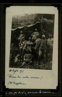 10 luglio 1915, presso la sala mensa