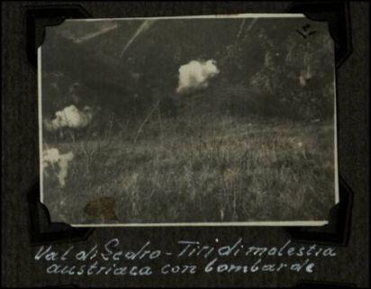 Val di Ledro, tiri di molestia austriaca con bombarde