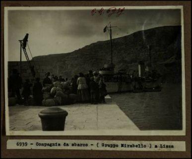 Compagnia da sbarco (Gruppo Mirabello) a Lissa