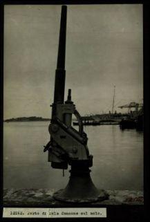 12162. Porta di Pola Cannone sul molo