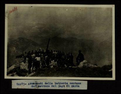 14483. Armamenti delle batterie montane del settore del Lago di Garda