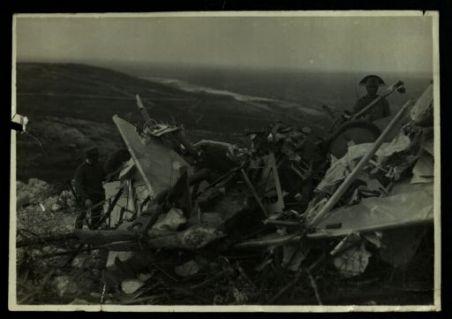 Aeroplano austriaco abbattuto sul S. Michele.