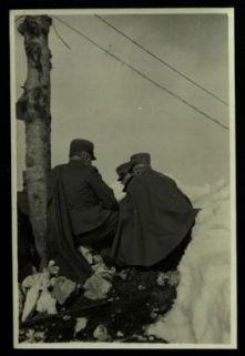 S. E. Cadorna e Pecori Giraldi all'osservatorio di M. Cengio.