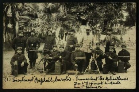 Leieutenent Raphael Carota commandant les mitrailleuses du 4 Regiment de Marche du 1 Changer