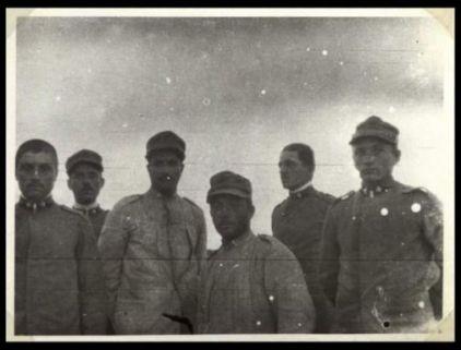 Soldati del 31 Reggimento Artiglieria da campagna nel primo accampamento a Mereto di Capitolo