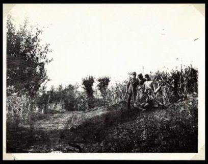 I soldati del 31 Reggimento Artiglieria da campagna durante alcune riprese fotografiche nei ditorni dell'accampamento di Cialla