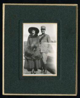 Pio Ladelci con la sposa Vera Mauroner