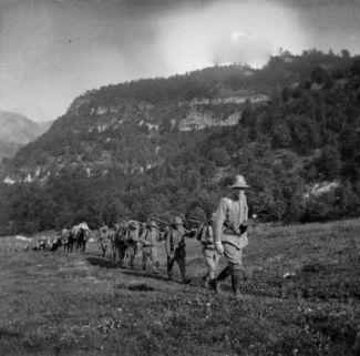 Marcia della Sez. Mitragliatrici da Malga Spina a Monte Vignola e Piazzina