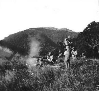 Valle dell'Aviana: Tiro a segno con la mitragliatrice MAXIM