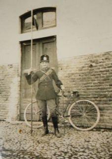 Pietro Segalini con l'uniforme dei lancieri di Montebello