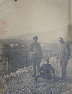 Pietro Segalini con commilitoni