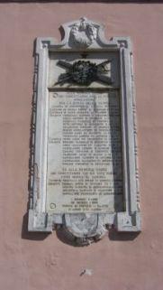 lapide commemorativa ai caduti