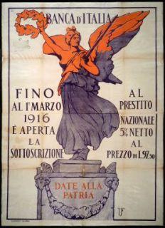 Date alla patria  : fino al 1. Marzo 1916 è aperta la sottoscrizione al Prestito Nazionale...  / U.F