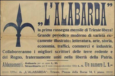 """""""L'Alabarda"""" la prima rassegna di Trieste libera! ..."""
