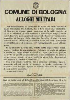 Alloggi militari / Comune di Bologna