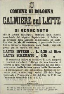 Calmiere sul latte / Comune di Bologna