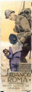 ... Porta il tuo salvadanaio perchè papà ritorni presto vincitore  : Banco di Roma, sottoscrizione prestito nazionale 1917, consolidato 5%  / Aurelio Craffonara