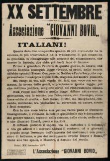 20. settembre  / Associazione Giovanni Bovio