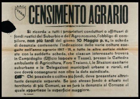 Censimento agrario  / Comune di Roma