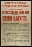 Czernin ha mentito...  / Comitato d'azione fra mutilati, invalidi e feriti di guerra, Comitato romano di resistenza interna
