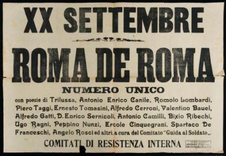 20. Settembre  : Roma de Roma  / Comitati di resistenza interna