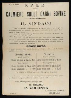 Calmiere sulle carni bovine  / S.P.Q.R.