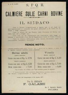 Calmiere sulle carni bovine  / S.P.Q.R