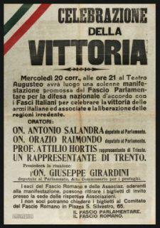 Celebrazione della Vittoria  / Il Fascio parlamentare, il Fascio romano