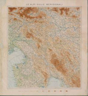Le Alpi Giulie meridionali : carta alla scala di 1:250000 con testo esplicativo / Mario Baratta - Scala 1:250000