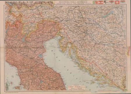 Frontiera italo-austriaca e territori della più grande Italia