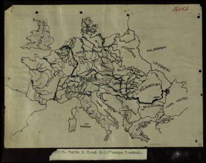 14157. Carta I fiumi dell'Europa Centrale