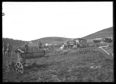 ... campo per macchina per la lavorazione del terreno