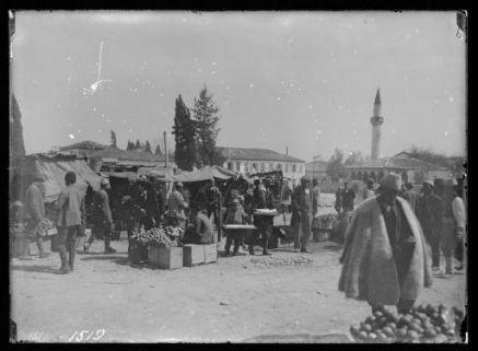 Mercato all'aperto in Albania