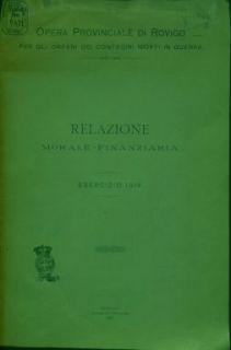Relazione morale-finanziaria : esercizio 1919 / Gustavo Bazzani
