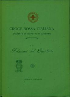 11a Relazione del presidente / Croce rossa italiana, Comitato di distretto di Camerino