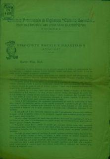 Resoconto morale e finanziario : anno 1917 / Comitato provinciale di vigilanza Camillo Corradini per gli orfani dei maestri elementari, Vicenza