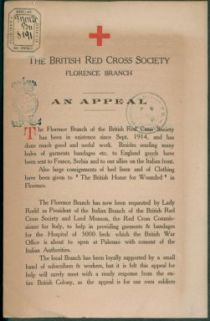 An appeal / The British Red Cross Society, Florence branch