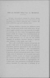 Alla memoria Santa del sottotenente Alberto Modena, caduto eroicamente il 29 agosto 1916 : Nell'anniversario della sua morte