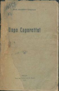 Dopo Caporetto  / Eugenio Cerulli