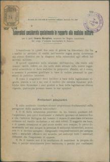 Tubercolosi considerata specialmente in rapporto alla medicina militare / Edoardo Maragliano