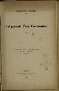 Dal giornale d'una crocerossina / Clementina Aschieri