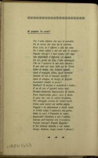 Al popolo in armi ; Ai morti dell'Artiglieria : versi / Ugo Fancelli