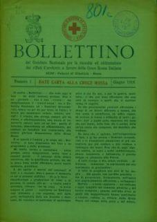 Bollettino del Comitato Nazionale per la raccolta ed utilizzazione dei rifiuti d'archivio a favore della Croce Rossa Italiana