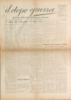 Il dopo-guerra : politica, industria, commercio, finanza
